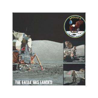 Eagle ha aterrizado la lona de Apolo 11 Impresión En Lona