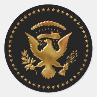Eagle ha aterrizado… pegatina redonda