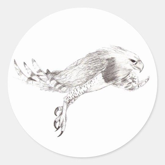 Eagle Harpy Classic Round Sticker
