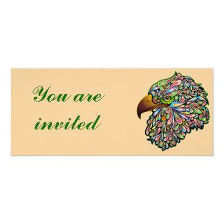 Eagle Hawk Psychedelic Design Invitation