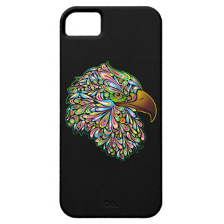 Eagle Hawk Psychedelic Design iPhone 5 Cases