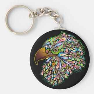 Eagle Hawk Psychedelic Design Keychain