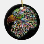 Eagle Hawk Psychedelic Design Ornament