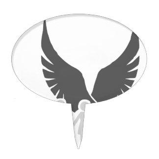 Eagle / hawk / raven / family protection 2 cake picks