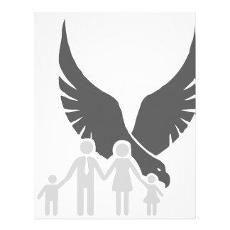 Eagle / hawk / raven / family protection 2 letterhead