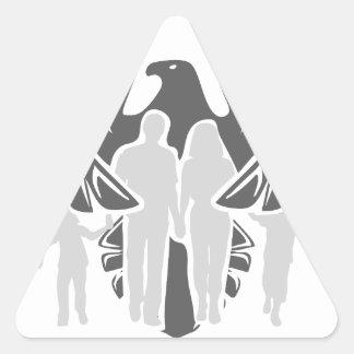 Eagle / hawk / raven / family protection triangle sticker