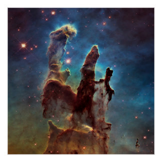 Eagle HDR Pillars of Creation Poster
