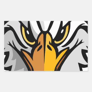 eagle head2 rectangular sticker
