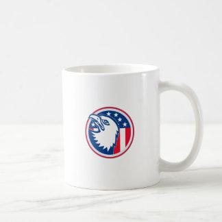 eagle head american stars stripes flag coffee mug