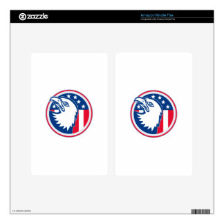 eagle head american stars stripes flag decals for kindle fire
