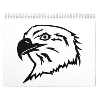 Eagle head calendar