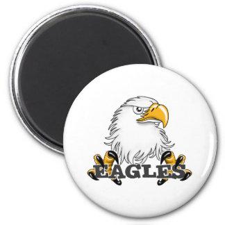 Eagle Head Claw 2 Inch Round Magnet