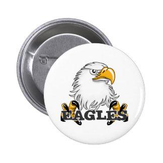 Eagle Head Claw Pinback Button