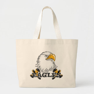 Eagle Head Claw Large Tote Bag