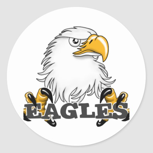 Eagle Head Claw Round Sticker