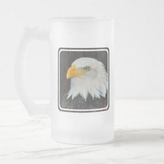 Eagle Head Frosted Beer Mug