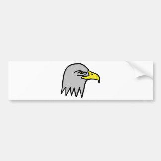 eagle head icon bumper sticker