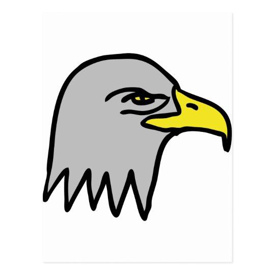 eagle head icon postcard