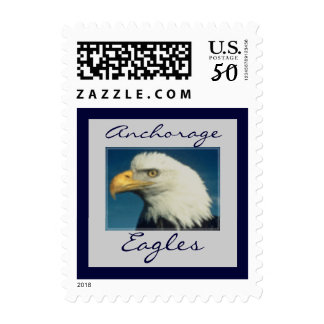 Eagle Head School Mascot Postage Stamp