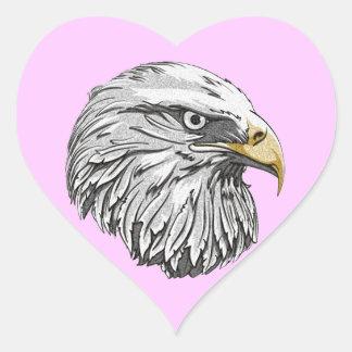 Eagle Head sphere Heart Sticker