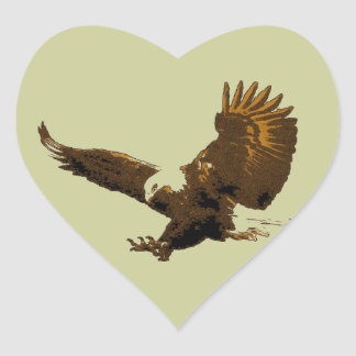 Eagle Heart Sticker
