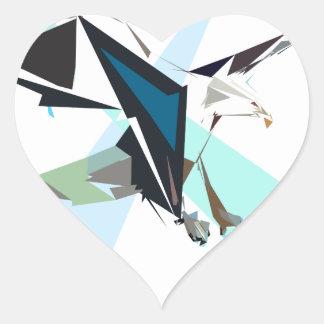 eagle heart sticker