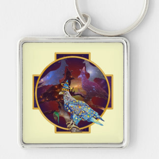 Eagle - Heavenly Wanderer № 10 Silver-Colored Square Keychain