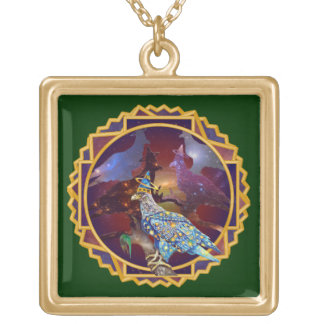 Eagle - Heavenly Wanderer № 11 Gold Plated Necklace