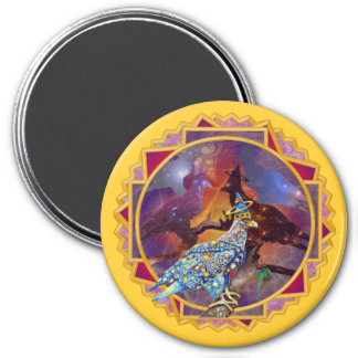 Eagle - Heavenly Wanderer № 15 3 Inch Round Magnet