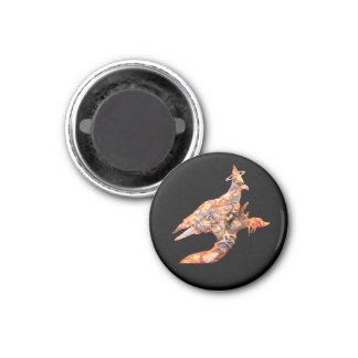 Eagle - Heavenly Wanderer № 27 1 Inch Round Magnet