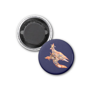 Eagle - Heavenly Wanderer № 28 1 Inch Round Magnet