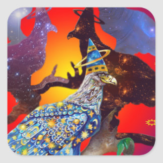 Eagle - Heavenly Wanderer № 32 Square Sticker