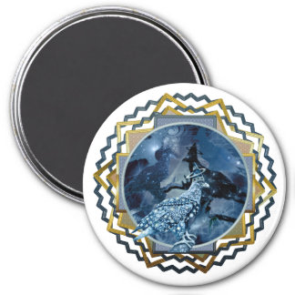 Eagle - Heavenly Wanderer № 5 3 Inch Round Magnet