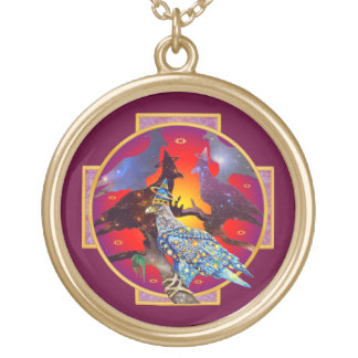 Eagle - Heavenly Wanderer № 6 Gold Plated Necklace
