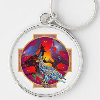 Eagle - Heavenly Wanderer № 6 Silver-Colored Round Keychain