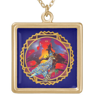Eagle - Heavenly Wanderer № 9 Gold Plated Necklace