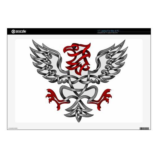 Eagle heráldico calcomanías para portátiles