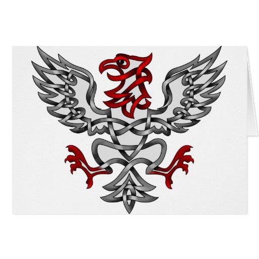 Eagle heráldico felicitación