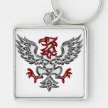 Eagle heráldico llavero personalizado