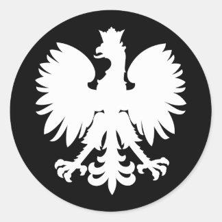 Eagle heráldico pegatina redonda