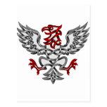 Eagle heráldico postal