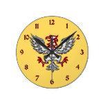 Eagle heráldico relojes