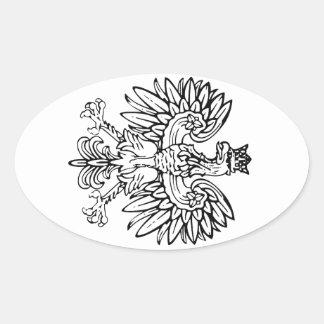 Eagle Heraldry Oval Sticker