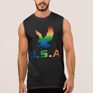 Eagle hermoso y los E.E.U.U. gradien el estilo - Camiseta Sin Mangas