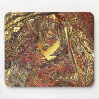EAGLE IN A COMET CAVE MOUSE PAD