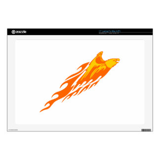 Eagle in Flames Decal For Laptop