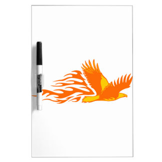 Eagle in Flames Dry Erase Board