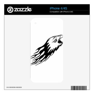 Eagle in Flames iPhone 4 Decals