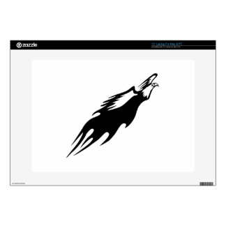 Eagle in Flames Laptop Decals