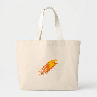 Eagle in Flames Large Tote Bag